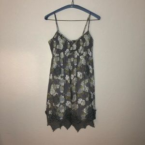 Free people floral w/ lace dress